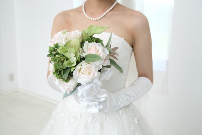 最短結婚ウエディングドレス